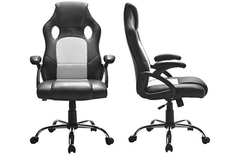 Cadeira gamer ragnarok preta e branca