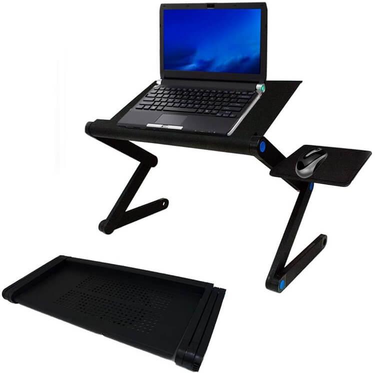 Mesa de suporte articulado para notebooks.