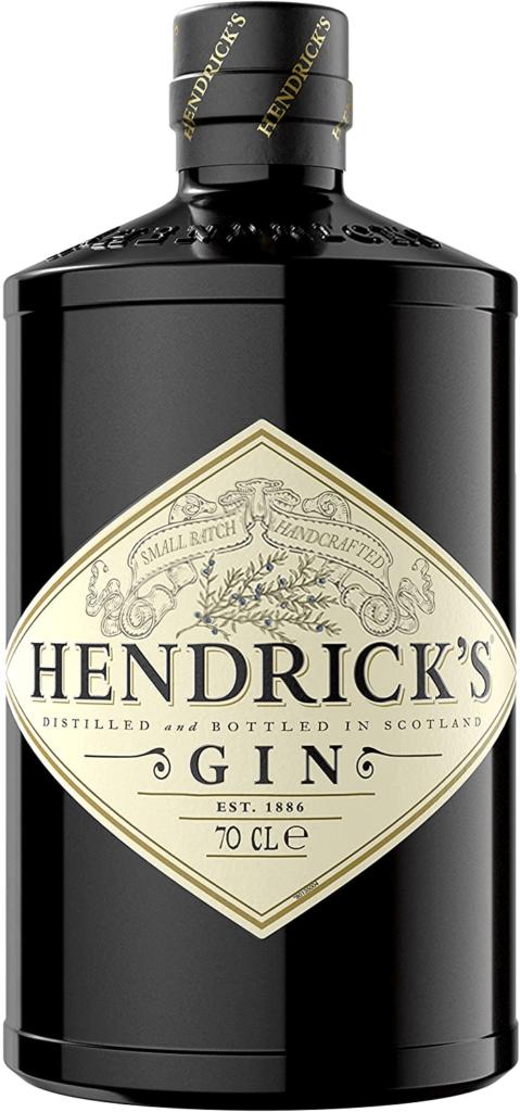 Garrafa de gin da marca Hendrick's.