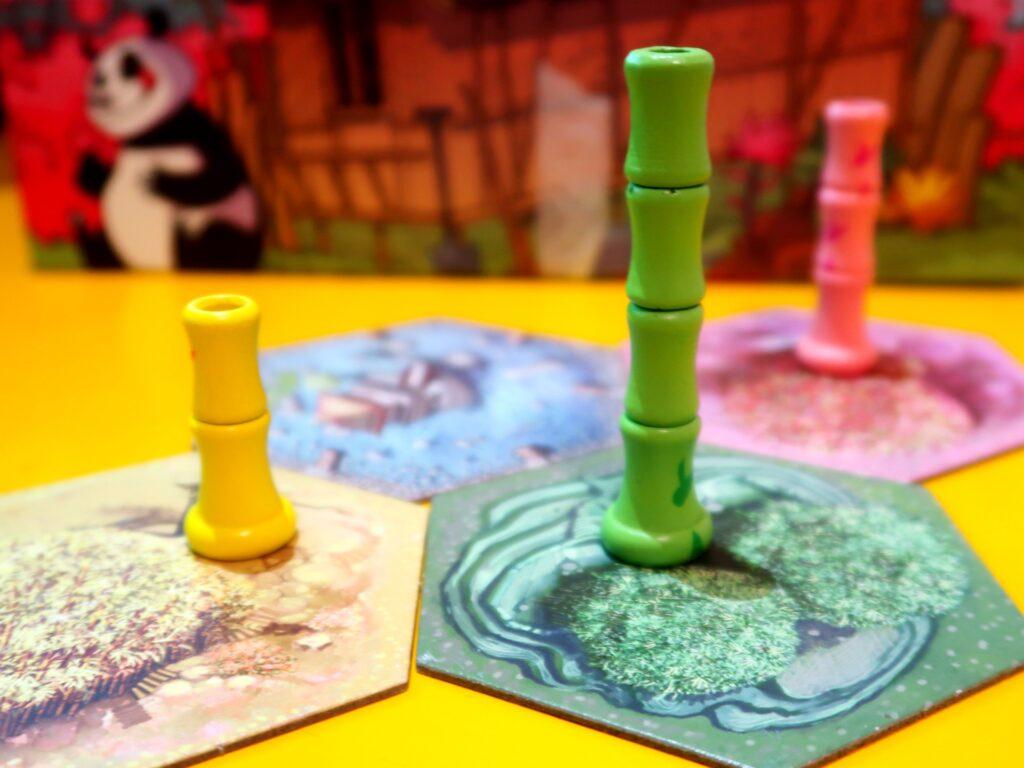 Takenoko jogo: brotos de bambu
