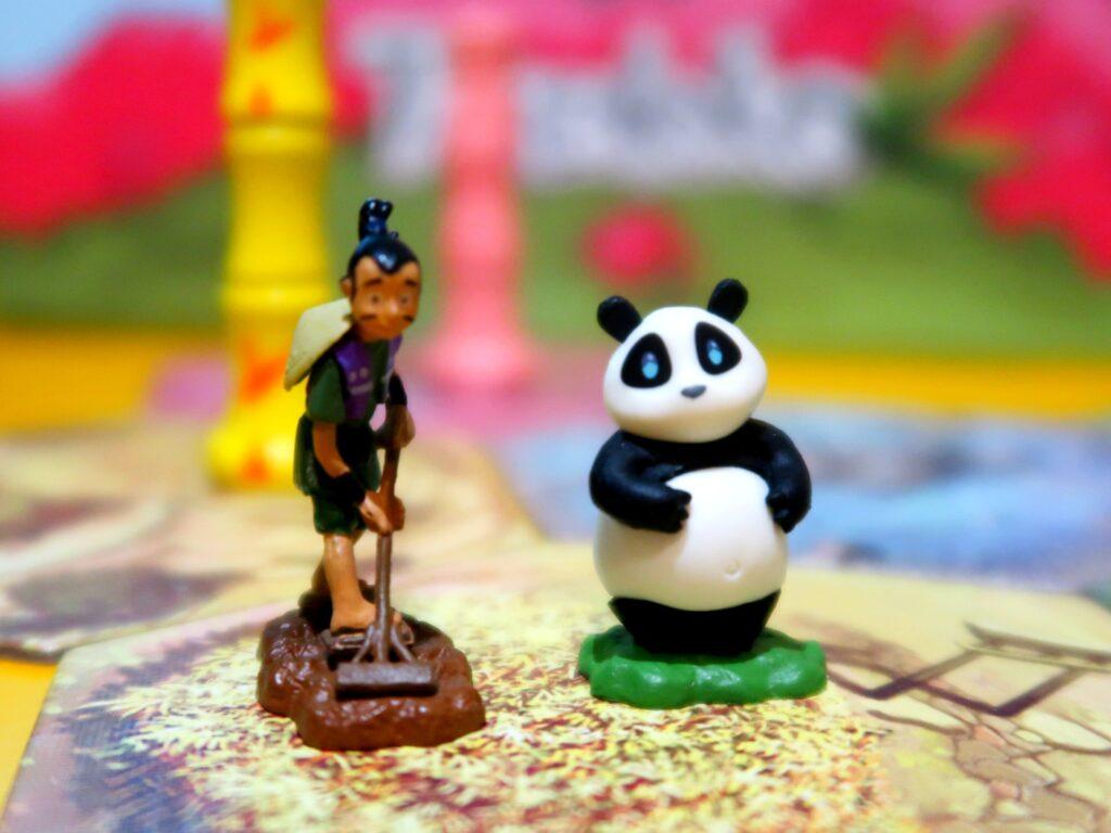 Takenoko jogo: panda e jardineiro