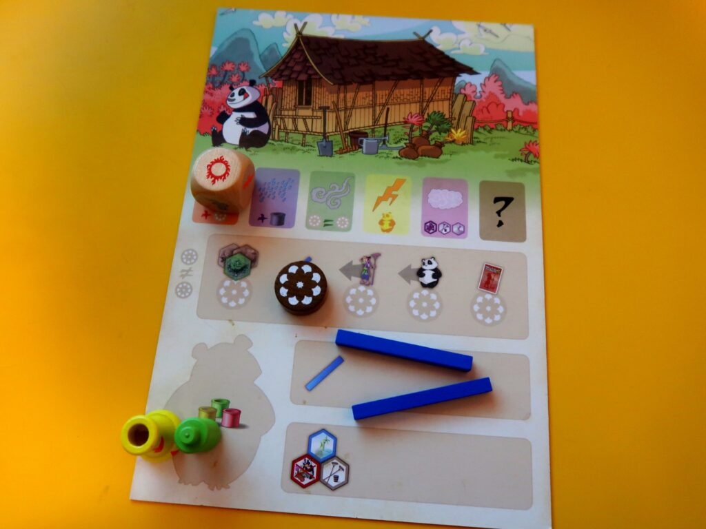 Takenoko jogo: tabuleiro individual