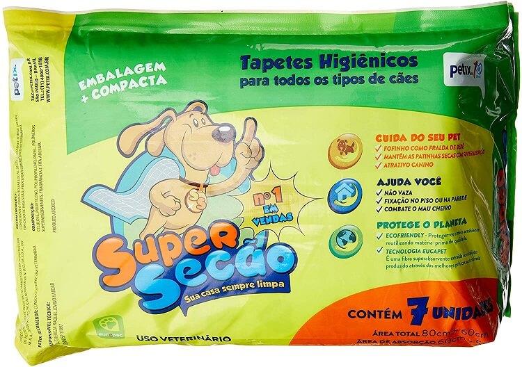 Tapete higiênico SuperSecão.