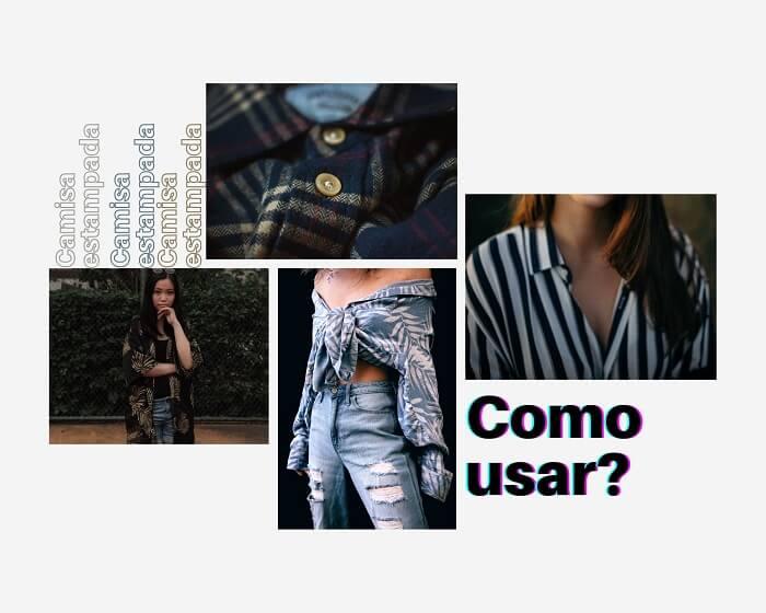 Inspirações de tendências anos 90 com camisa estampada