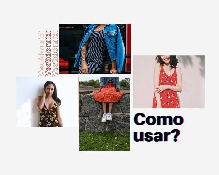 Inspirações de tendência anos 90 com vestido midi
