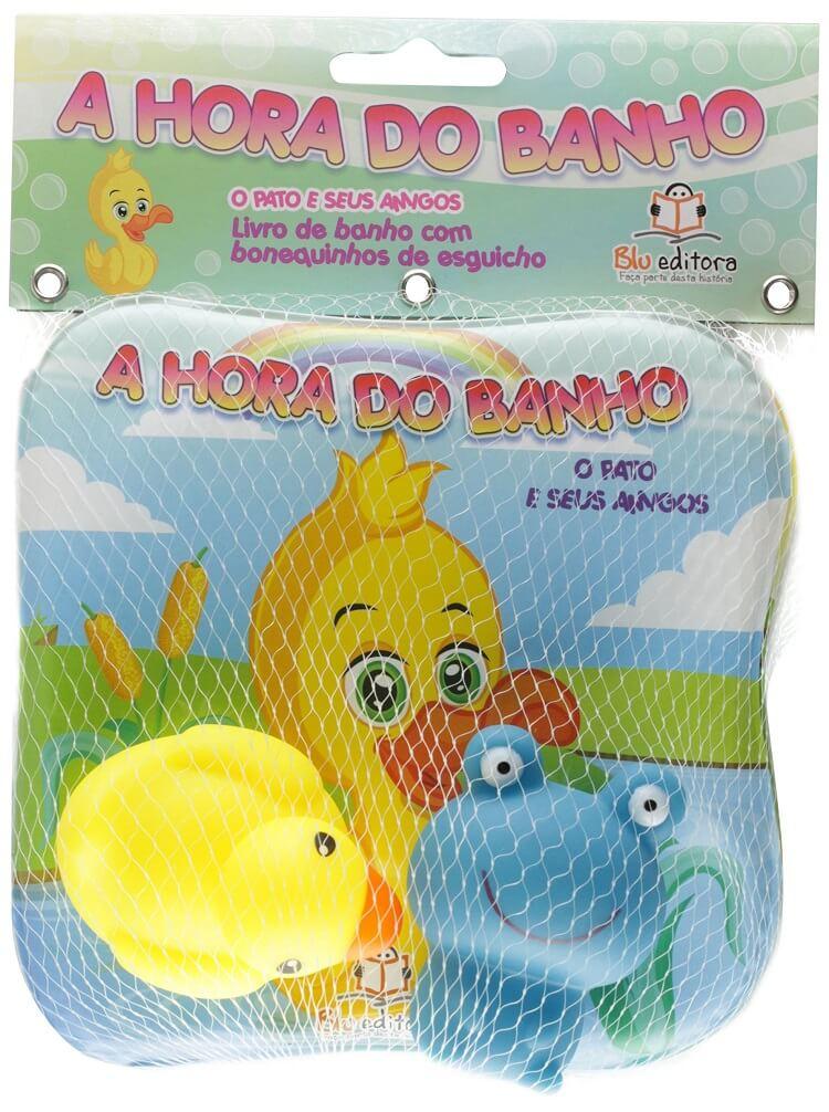 """Livro """"A hora do banho"""" com brinquedos para bebês de 6 meses"""