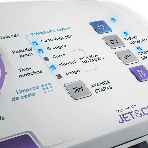 Painel da máquina de lavar roupas LAC09 da Electrolux.