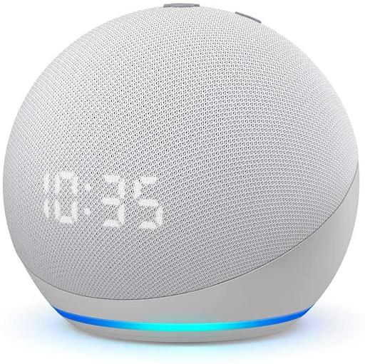 Modelo Novo Echo Dot (4ª geração): Smart Speaker com Relógio e Alexa.