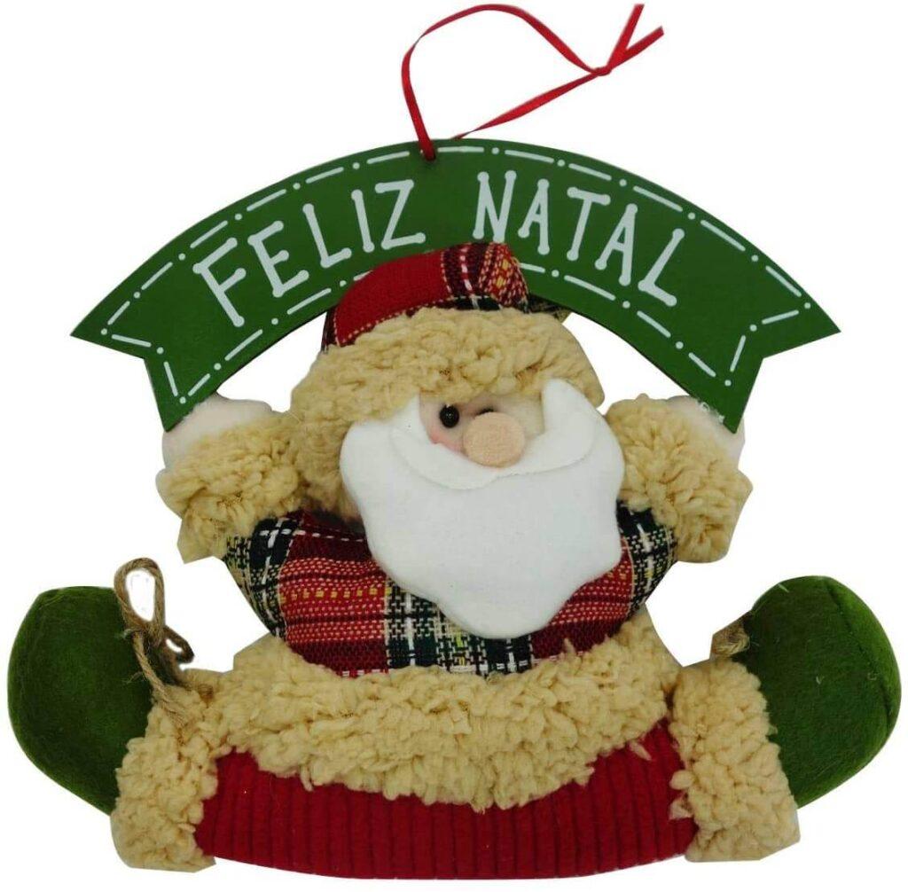 Enfeite de pendurar na porta em formato de Papai Noel