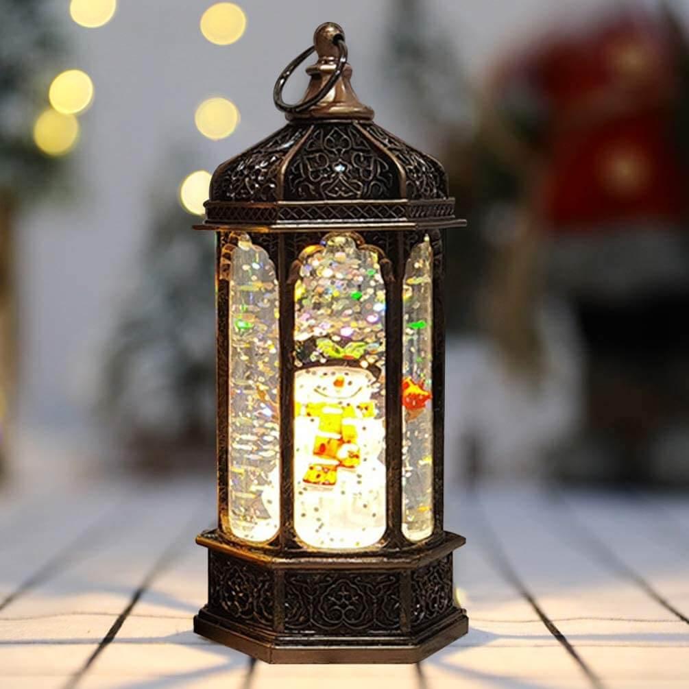 Globo de neve em formato de lanterna de Natal