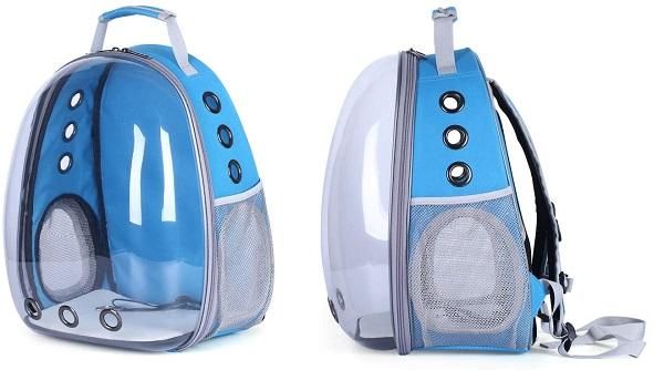 caixa de transporte para gatos no modelo de mochila com cápsula
