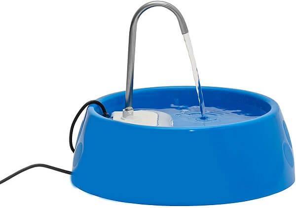 fonte para gato beber água barata da marca amicus na cor azul