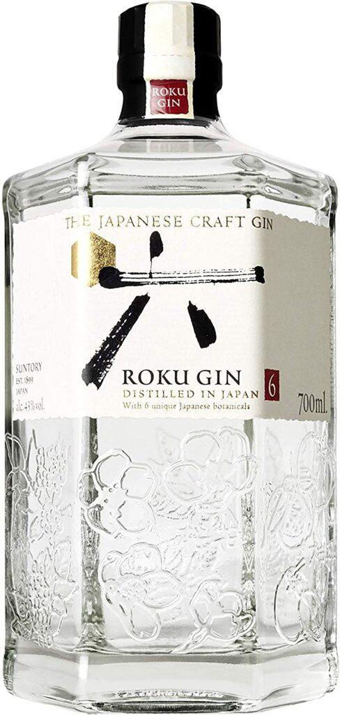 Imagem da garrafa de Gin Roku.