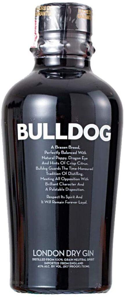 Imagem da garrafa de gin Bulldog.