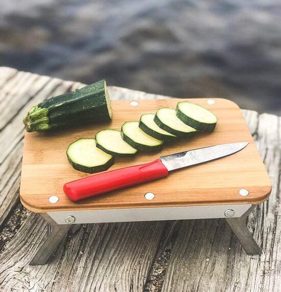 tábua de corte para kit de cozinha de camping