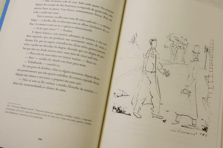 Páginas de Memórias póstumas de Brás Cubas.