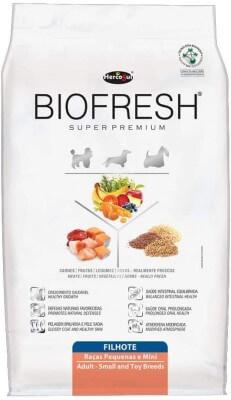 Ração para filhotes Biofresh.