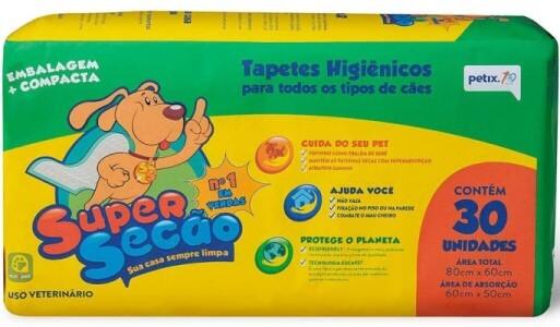 Tapetes higiênicos Supersecão.