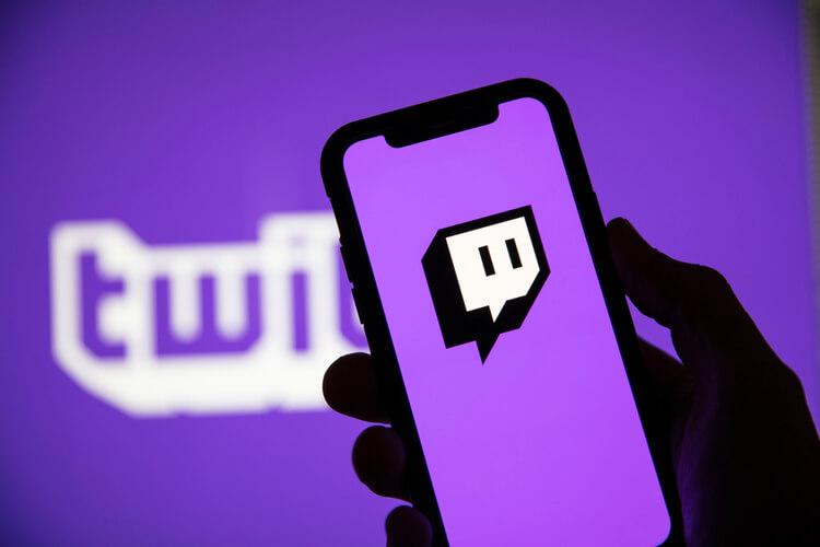 Celular Com A Logo Da Twitch