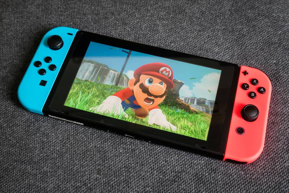 Jogo do Mario rodando no Nintendo Switch.