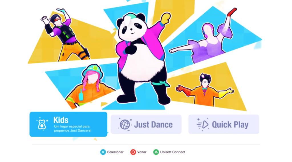 Print da tela inicial de Just Dance 2021.