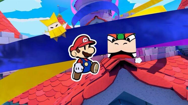 Print de uma das fases do Paper Mario: The Origami Kingdom