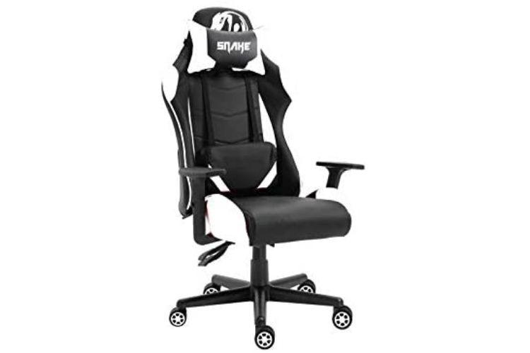 Cadeira snake preto e branca.