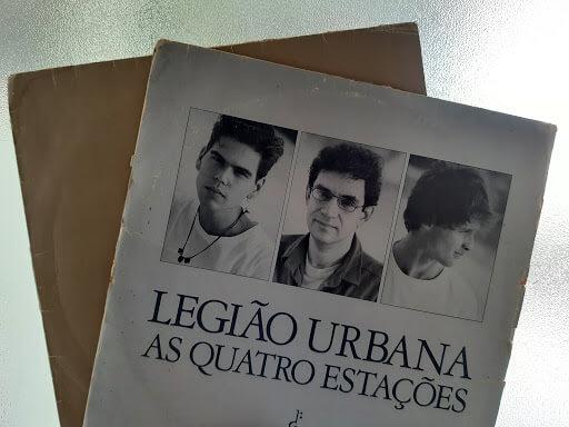 Capa Do álbum As Quatro Estações, Em Formato De Vinil, Da Banda Legião Urbana.