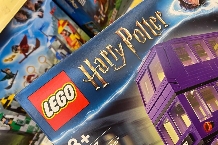 Embalagem de Lego da coleção Harry Potter.