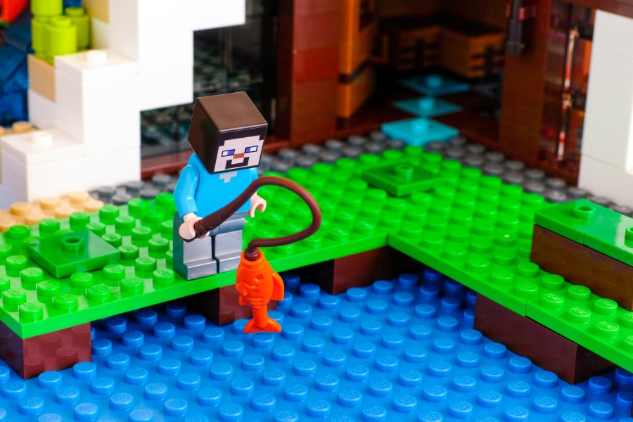 Lego temático de Minecraft.