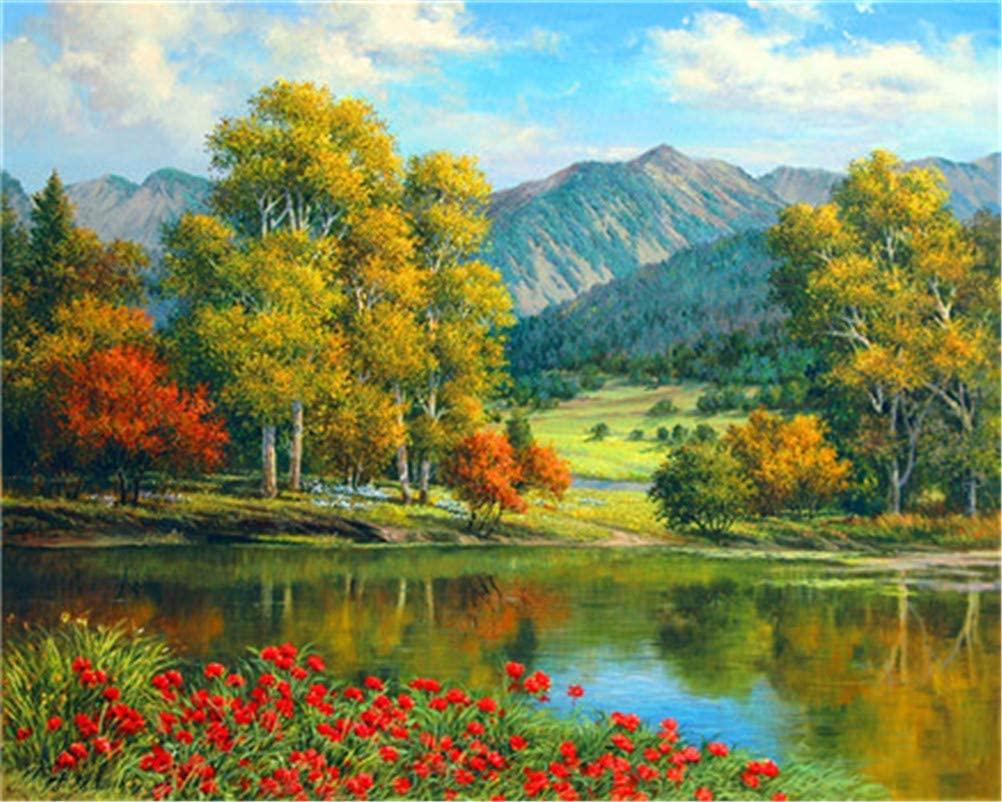 pintura por números: paisagem nas montanhas