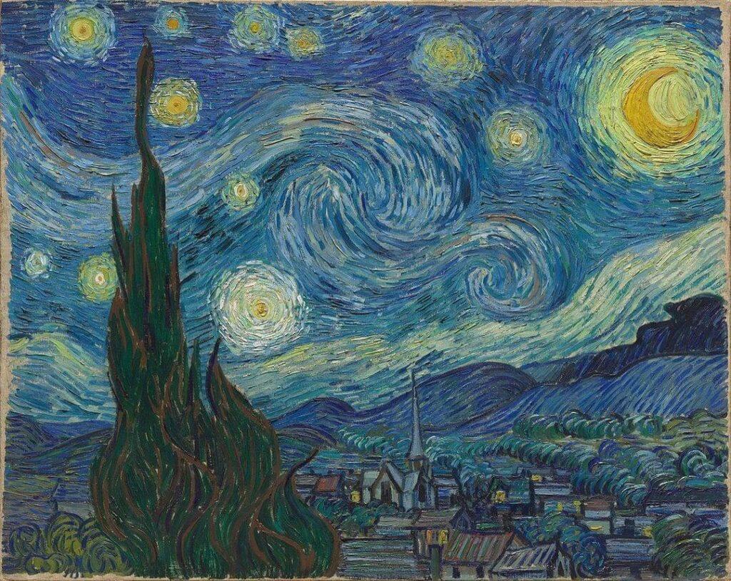 Obra A Noite Estrelada pintada por Vincent van Gogh.