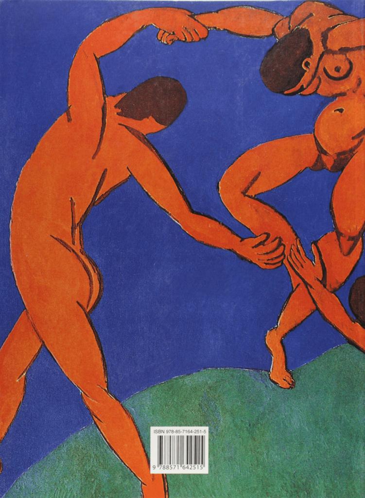 capa do livro Arte Moderna, escrito por Giuliu Carlo Argan, que contém a obra A Dança, do pintor Henri Matisse.