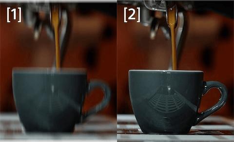 Diferença entre a função Optical SteadyShot desativada e ativada, respectivamente.