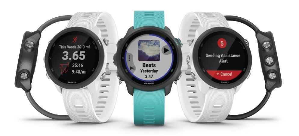 Opções De Cores De Pulseiras Do GPS Relógio Garmin 245 Music.
